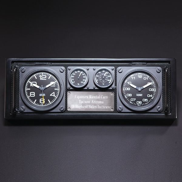 Aviator Dual Time Zone Clock / Caddy