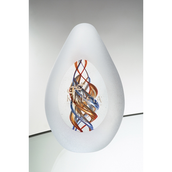 Nucleus - Art Glass Award With Intricate And Colorful Swirls On The Inside Photo