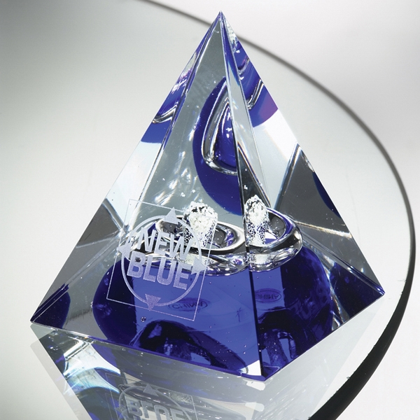 Pharaoh - Art Glass Award Featuring Luminescent Materials Which Glow In The Dark Photo