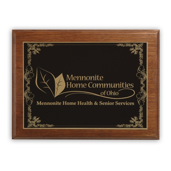 Ashford - Walnut Plaque Award With Step Beveled Edge Photo