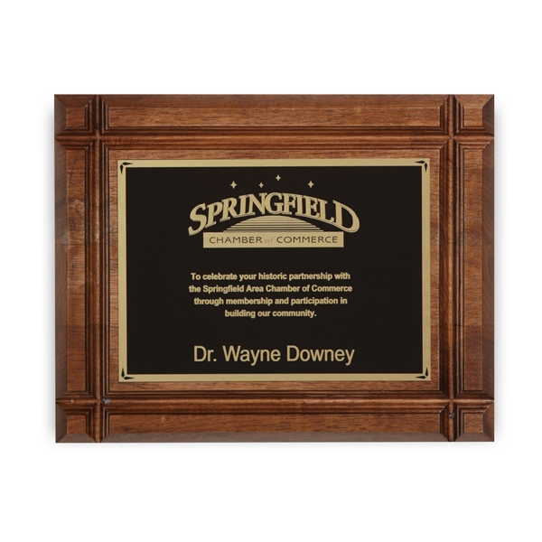 Devonshire - Walnut Plaque Award Photo