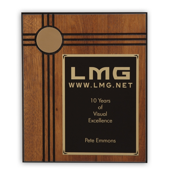 Derby - Walnut Plaque Award With Dark Accents. Closeout Photo