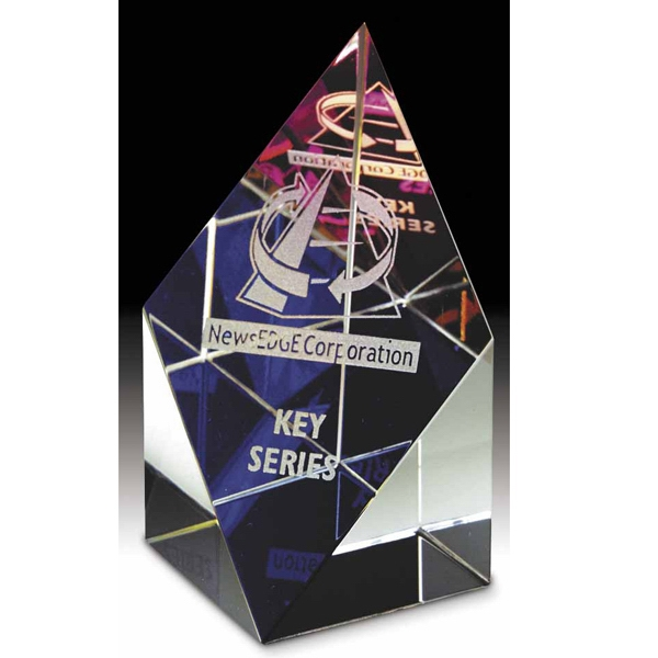 The Prism Collection - Optically Perfect Glass Award Topped With Dichoic Crystal Photo
