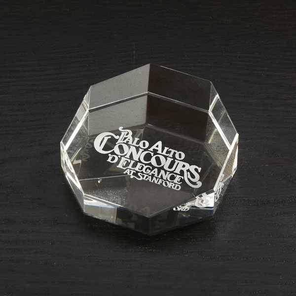 Octagon Shaped Paperweight Photo