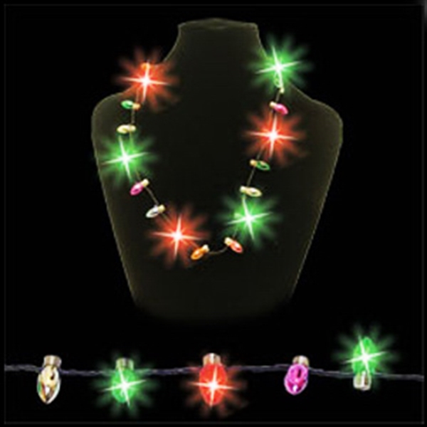 Light Up Necklace - Red & Green LED - Christmas