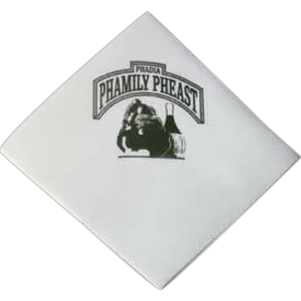 "500 Line - White Beverage Napkin Made From Recycled Materials. Opens 10"" X 10"" Photo"