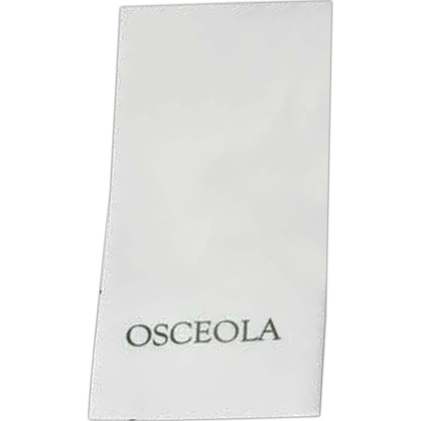 "500 Line - White Hand Towel Made From Recycled Materials. Opens 12"" X 17"" Photo"