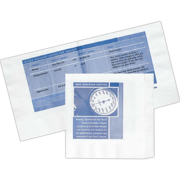 "Promo-naps High Lines - Off Folded 2-ply Beverage Napkin Made From Recycled Materials, 5"" X 5.375"" Photo"