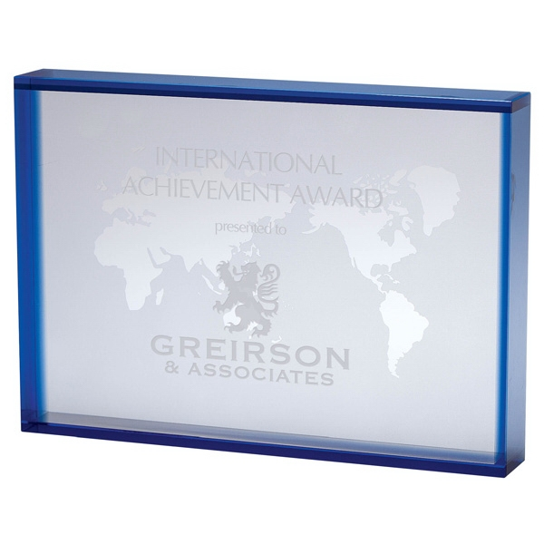 Crystal Rectangular World Map Award Photo