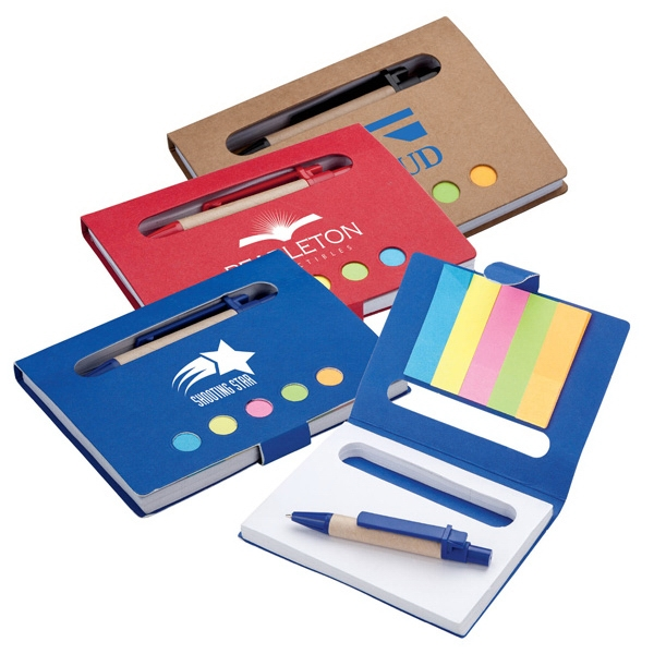 Eco-friendly Mini Notebook With Pen And Flags Photo