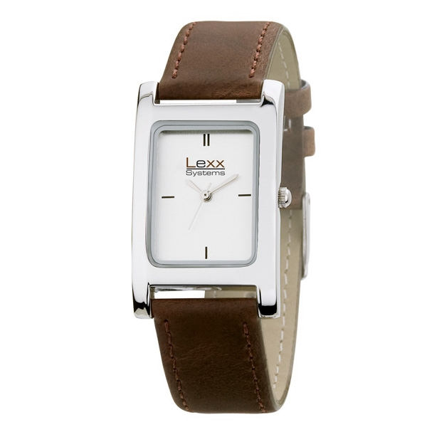 Men's 25mm - Watch With Rectangular And Polished Silver Metal Case Photo