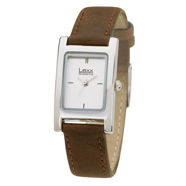 Women's 20mm - Watch With Rectangular And Polished Silver Metal Case Photo
