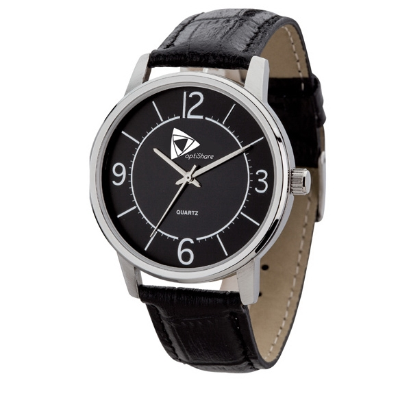 Men's 40mm - Watch With Silver Metal Case, Modern Style Photo
