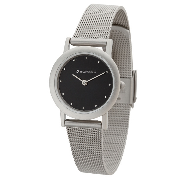 Women's 27mm - Watch With Matte Silver Solid Brass Case Photo