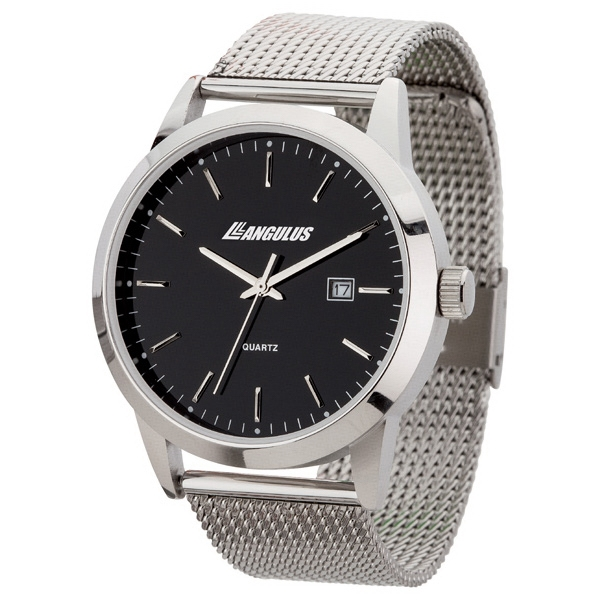 Unisex Style Watch With 42mm Polished Silver Metal Case Photo