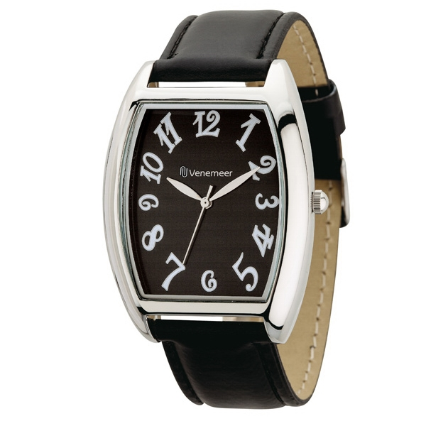 Unisex Watch With 36mm Polished Silver Metal Case Photo