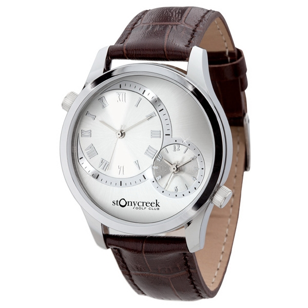 Unisex Watch With Polished Silver Metal Case Photo