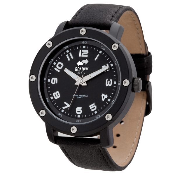 Unisex Watch With Contrast Dial Features Photo