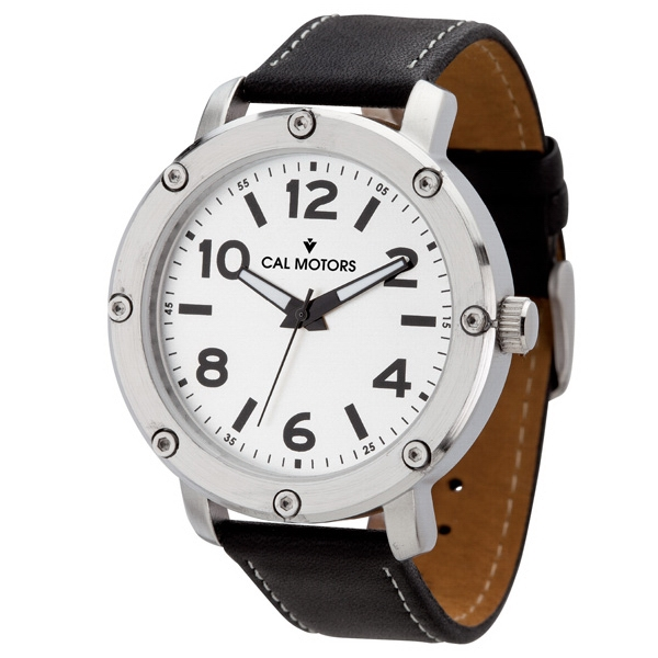 Unisex Watch With Black Leather Strap Photo