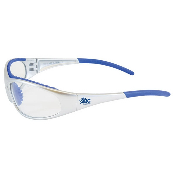 Flashfire - Clear Lens/blue And White Trim - Lightweight, Sporty Design Safety/recreational Glasses Photo