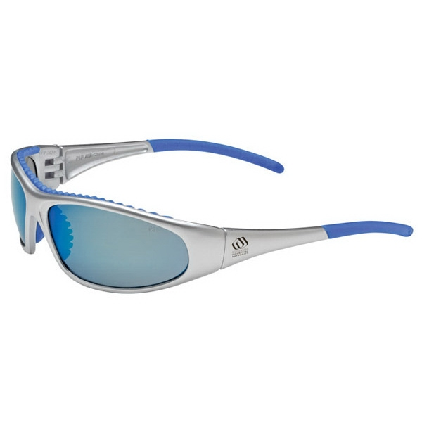 Flashfire - Blue Lens/blue And White Trim - Lightweight, Sporty Design Safety/recreational Glasses Photo