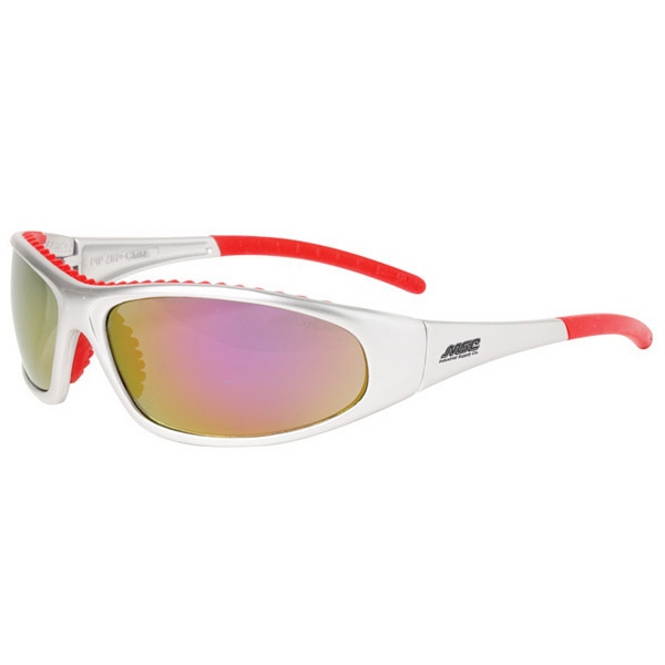 Flashfire - Red Lens/red And White Trim - Lightweight, Sporty Design Safety/recreational Glasses Photo