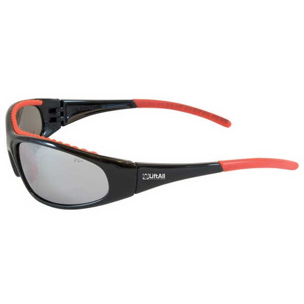 Flashfire - Silver Lens/black And Red Trim - Lightweight, Sporty Design Safety/recreational Glasses Photo