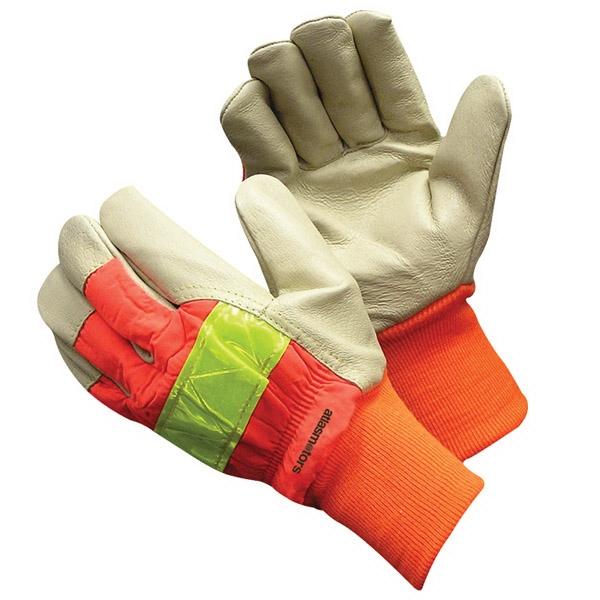 Hi-Vis Pigskin Glove With Knit Wrist