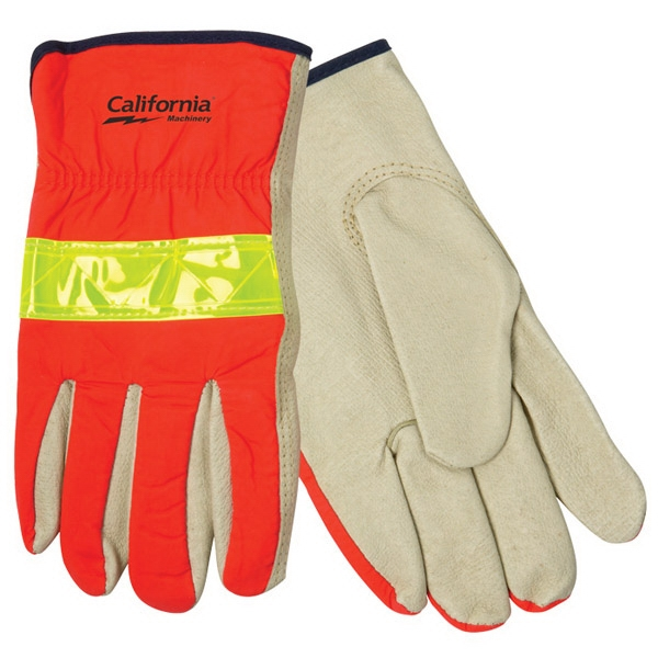 Hi-Vis Leather Driver's Glove