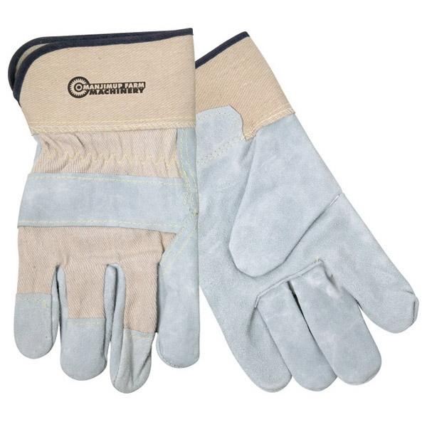 Spilt Leather Glove With Safety Cuffs