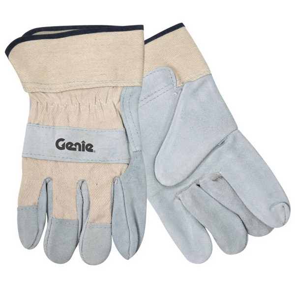 White Split Leather Glove With Safety Cuffs Photo
