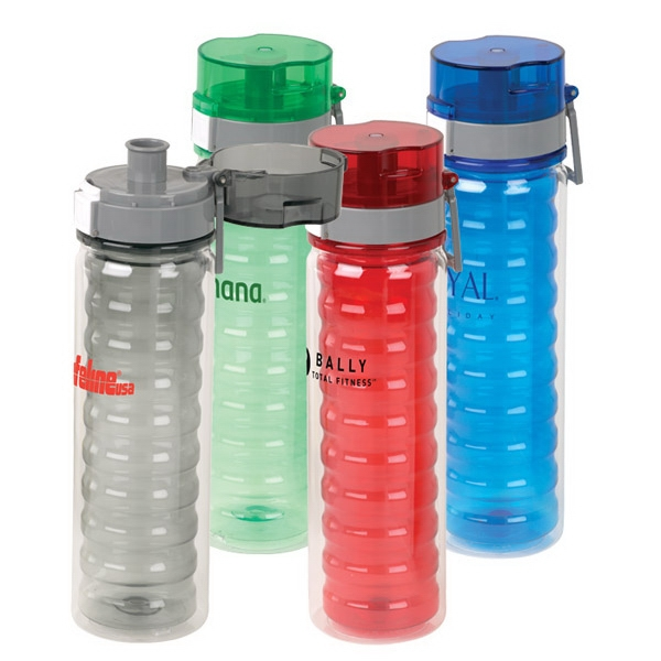16 Oz Water Bottle With A Screw On, Push Button, Spill Proof Lid Photo
