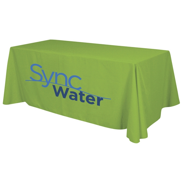 6' Economy Table Throw With 2-color Imprint Photo