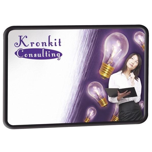 Brilliant Boards - Black Flexible Pvc Frame Dry Erase Board And Hanging Hardware Photo