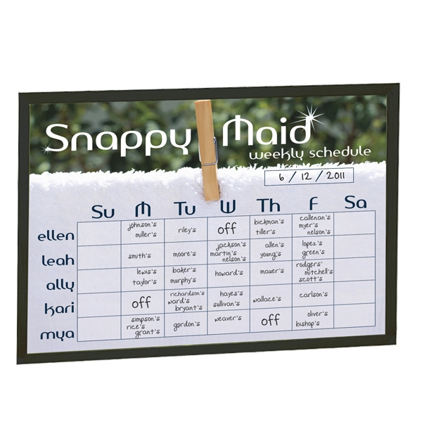 Brilliant Boards - Black Wood Frame Dry Erase Board With Hanging Hardware Photo