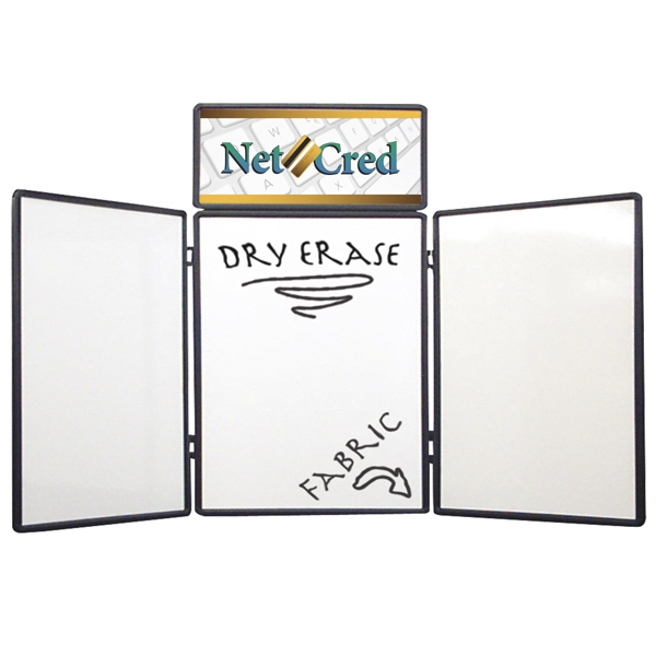 Show 'n Write - Dual Table Top 4' Kit With Display And Graphic Header. Dry Erase Board On One Side Photo