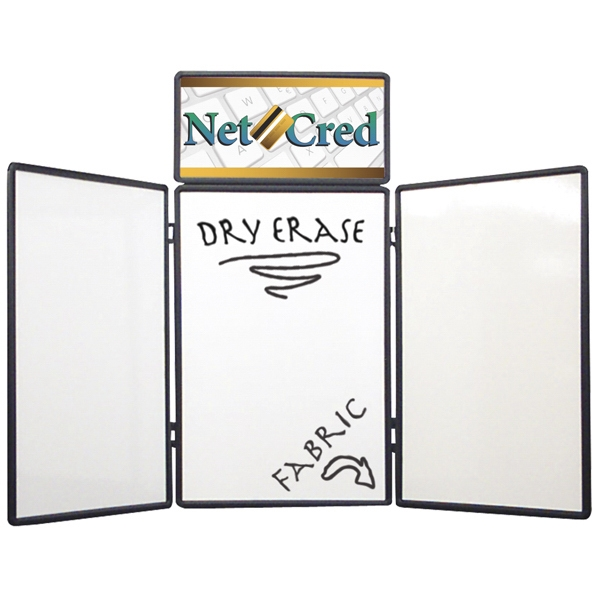 Show 'n Write - Dual Table Top 6' Kit With Display And Graphic Header. Dry Erase Board On One Side Photo