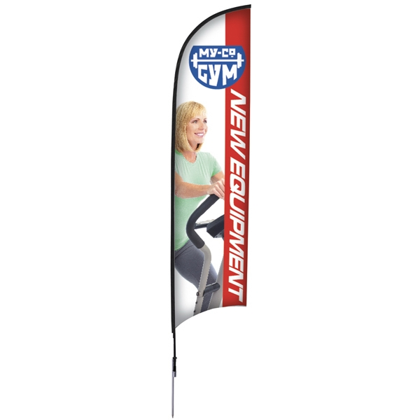 13' Razor Sail Sign Kit, Single-sided With Spike Base Photo