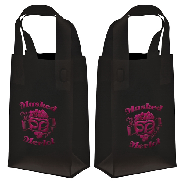 Recyclable Soft Loop Frosted Shopper Bag, 3.0 Mil, 1-color, 2-sided Hot Stamp Foil Photo