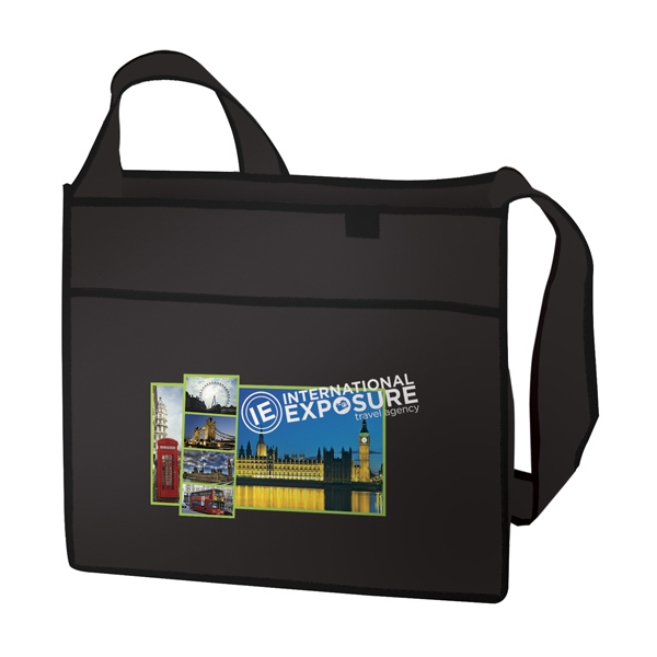 Esprit - Tote With Full-color Transfer, 1-sided. Has A Handy Pocket Photo
