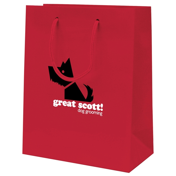 Gloss Eurotote Shopping Bag With 1-color, 1-sided Hot Stamp Photo