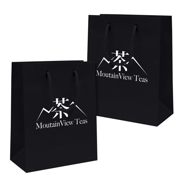 Gloss Eurotote Shopping Bag With 1-color, 2-sided Hot Stamp Photo