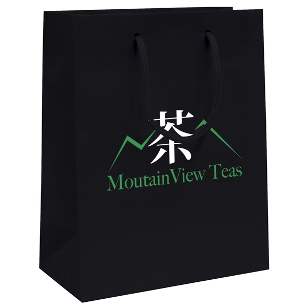 Gloss Eurotote Shopping Bag With 2-color, 1-sided Hot Stamp Photo