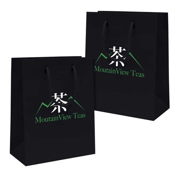 Gloss Eurotote Shopping Bag With 2-color, 2-sided Hot Stamp Photo