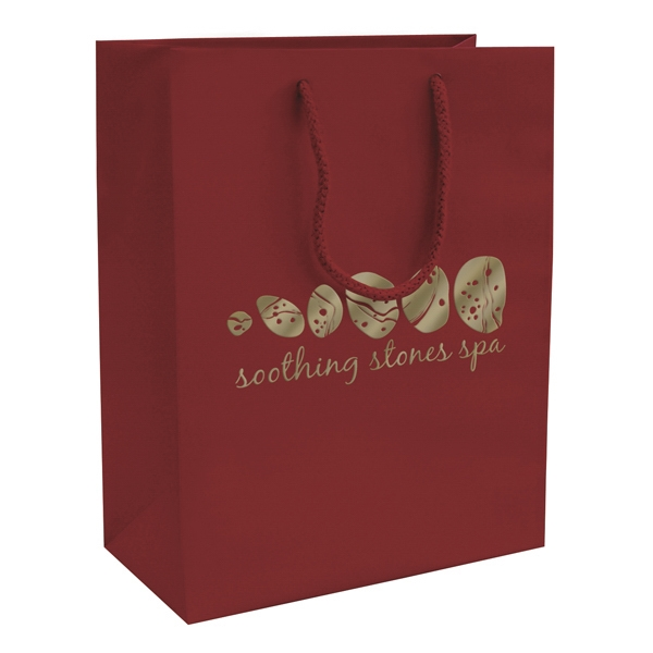 Matte Eurotote Shopping Bag With 1-color, 1-sided Hot Stamp Photo