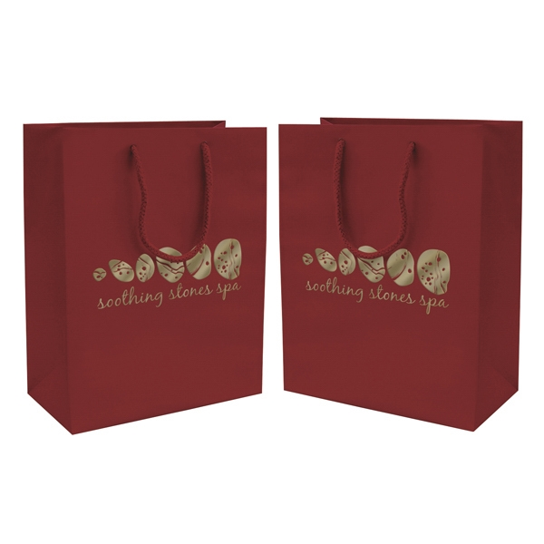 Matte Eurotote Shopping Bag With 1-color, 2-sided Hot Stamp Photo