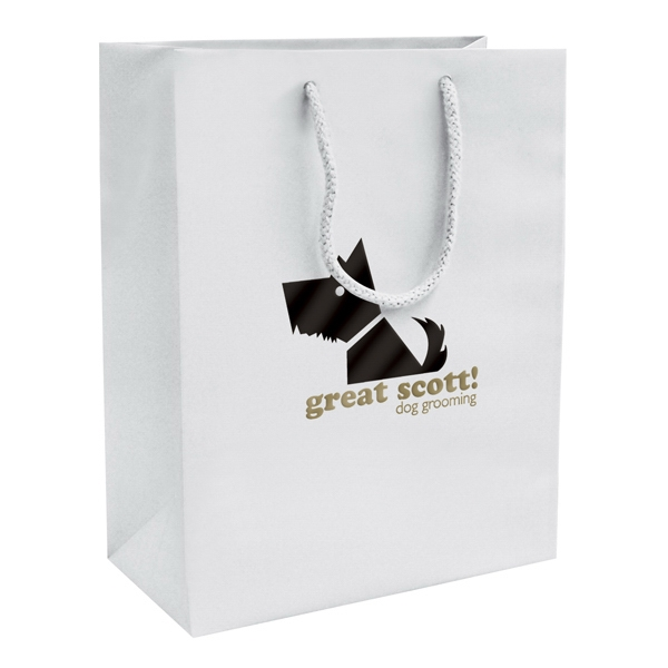 Matte Eurotote Shopping Bag With 2-color, 1-sided Hot Stamp Photo