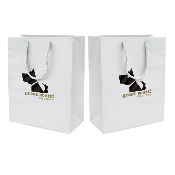 Matte Eurotote Shopping Bag With 2-color, 2-sided Hot Stamp Photo