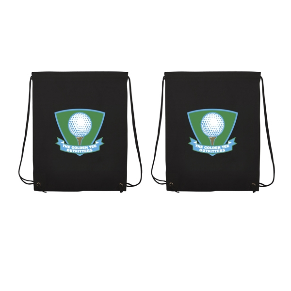 Non-woven Polypropylene Drawstring Backpack With Full-color Imprint, Two Sides Photo