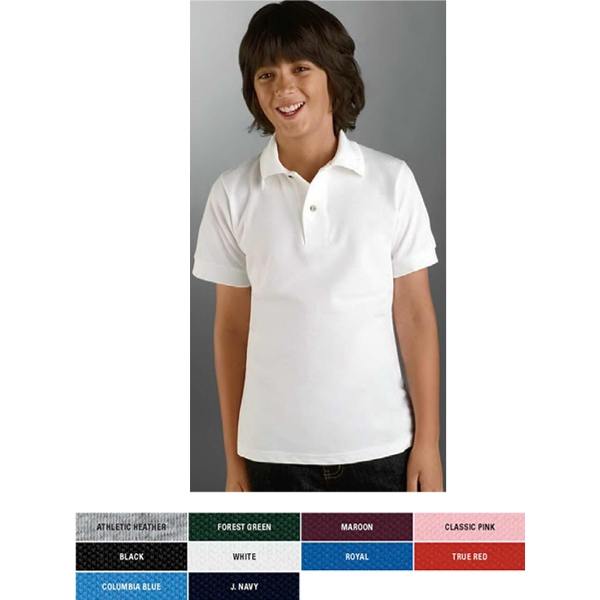 Jerzees (r) - Neutrals - Youth Size Polo Shirt, 6.5 Oz With Welt Knit Collar And Cuffs Photo